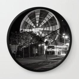 The Wonder Wheel at night  Wall Clock