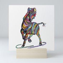 Kaleidoscope Zebra Mini Art Print