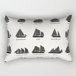 Sailing Vessel Types And Rigs Rectangular Pillow