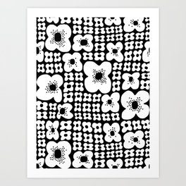 Just Flowers Bunch Art Print