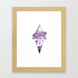 Space Bound - Pink palette Framed Art Print