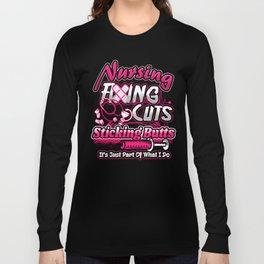 Nursing Fixing Cuts Sticking Butts Long Sleeve T-shirt