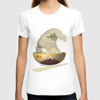 ramen T-shirts featuring The Great Ramen Wave by Sheharzad