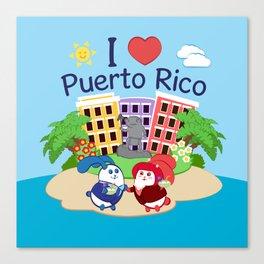 Ernest & Coraline | I love Puerto Rico Canvas Print
