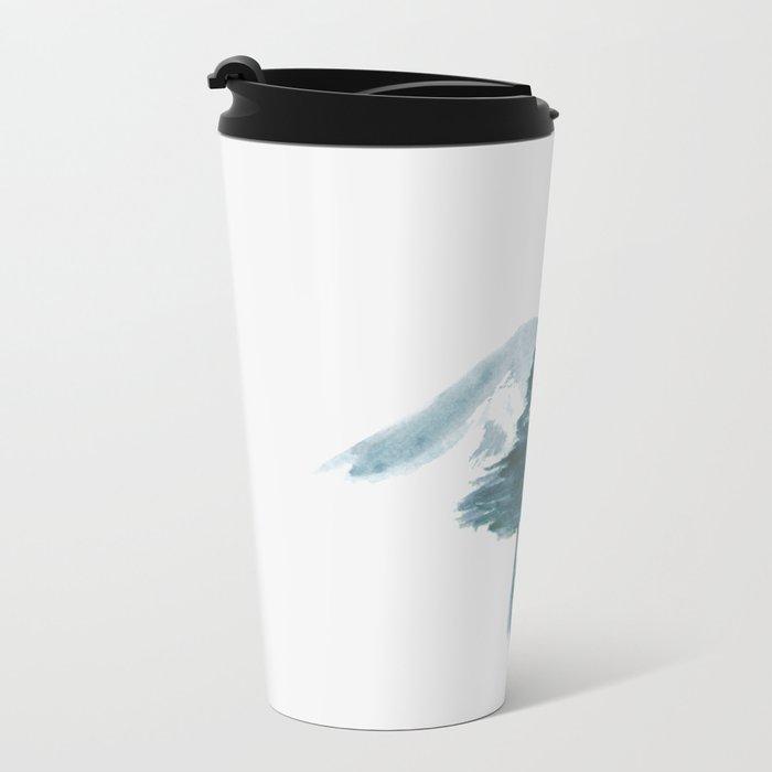 Japanese Alpine Sunset Metal Travel Mug