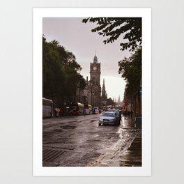 Golden hour in Edinburgh Art Print