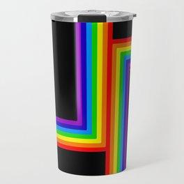 Modern Rainbow Travel Mug