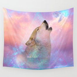 Dream By Day (Wolf Dreams - Remix Series) Wall Tapestry