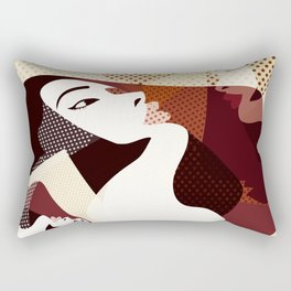 A red-haired woman - Abstract3 Rectangular Pillow