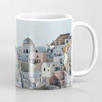 greece Mugs featuring Greece Villas by Limitless Design