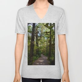 Vegetation growing along the Wild Pacific Trail, Ucluelet BC Unisex V-Neck