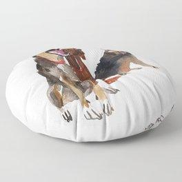 watercolor dog vol2 Pointer, Coonhound, Alaskan Floor Pillow