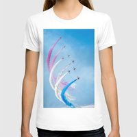 aviation T-shirts featuring The Red Arrows by Adrian Evans