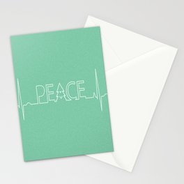 Peace Pulse Minimalist Christmas Stationery Cards