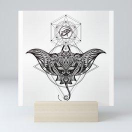 Ocean Stingray Tattoo Mini Art Print
