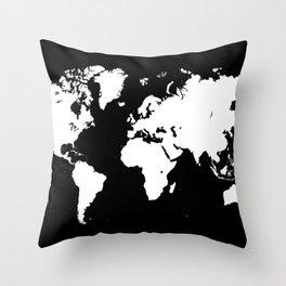 Design 69 world map Throw Pillow
