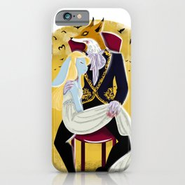 Mr Fox and Miss Rabbit iPhone Case