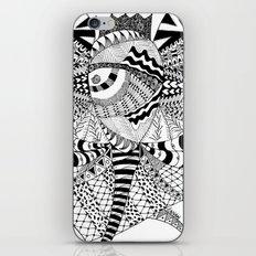 Elephant Butterfly iPhone & iPod Skin