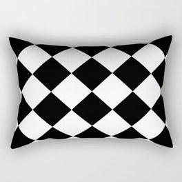 Rhombuses (Black & White Pattern) Rectangular Pillow