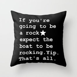 Stated Throw Pillow