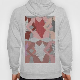 My Thighs Rub Together & I'm OK With That - Positive Female Body Image Digital Illustration Hoody