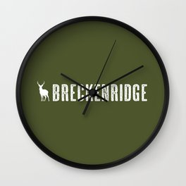 Deer: Breckenridge, Colorado Wall Clock