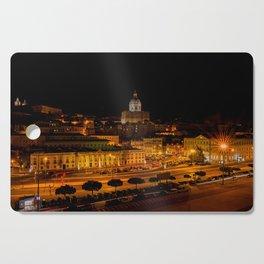Lisbon by night Cutting Board