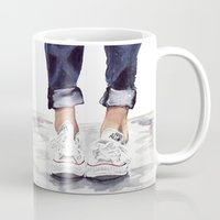 converse Mugs featuring Converse by Bridget Davidson