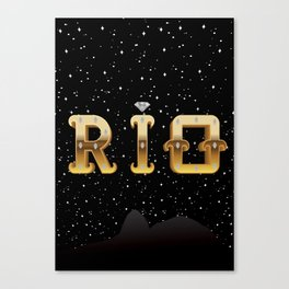 The Face of Rio - Silhouette Canvas Print