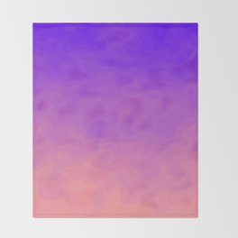 Pink and Purple Ombre - Swirly - Flipped Throw Blanket