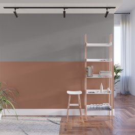 Earthy Horizon 3 Inspired by Sherwin Williams Cavern Clay Sw 7701 and Slate Violet SW 9155 Wall Mural