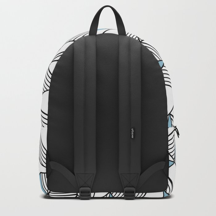 Abstraction Lines Sky Blue Backpack