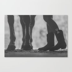 boots hooves + bows Canvas Print