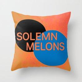 Solemn Melons Throw Pillow