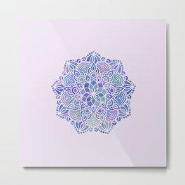 Mermaid Mandala (with lilac) Metal Print