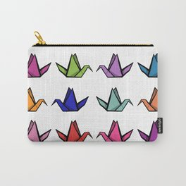 Multicoloured Origami Cranes Carry-All Pouch