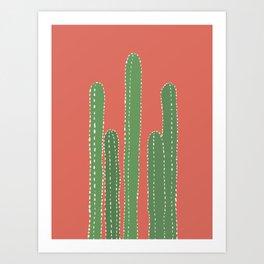 cactus wall art Art Print