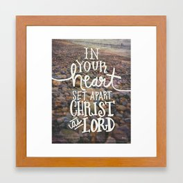 In Your Heart - Bible Inspiration Photo Expression Framed Art Print