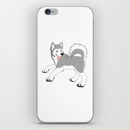Husky (Silver and White) iPhone Skin