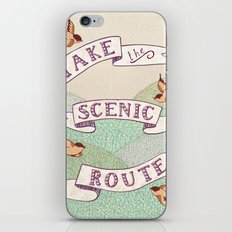 Take the Scenic Route print iPhone & iPod Skin
