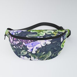 Impression of Summer (Butterfly and Periwinkle) Fanny Pack