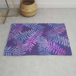Violet pink palm leaves pattern Design #leaves Rug