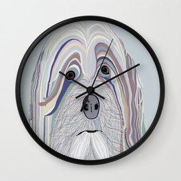 Havanese in Denim Colors Wall Clock