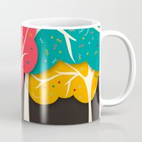 jazzberry Mugs featuring Happy Forest by Danny Ivan