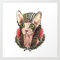 King of Sphynx  Art Print