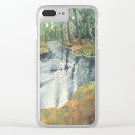 Watercolor Vortex Clear iPhone Case