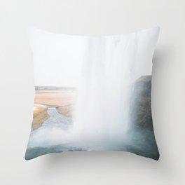 Seljalandsfoss Waterfall, South Iceland Throw Pillow