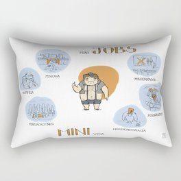 Minijobs (Spanish version) Rectangular Pillow