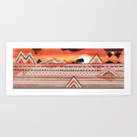 journey Art Prints featuring Journey by Sandra Dieckmann
