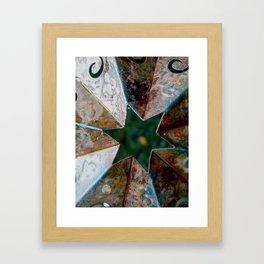 Rusty Star Framed Art Print